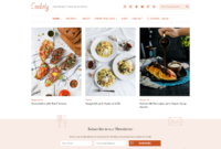 30+ Best Food WordPress Themes For Sharing Recipes 2019 regarding Blank Food Web Template