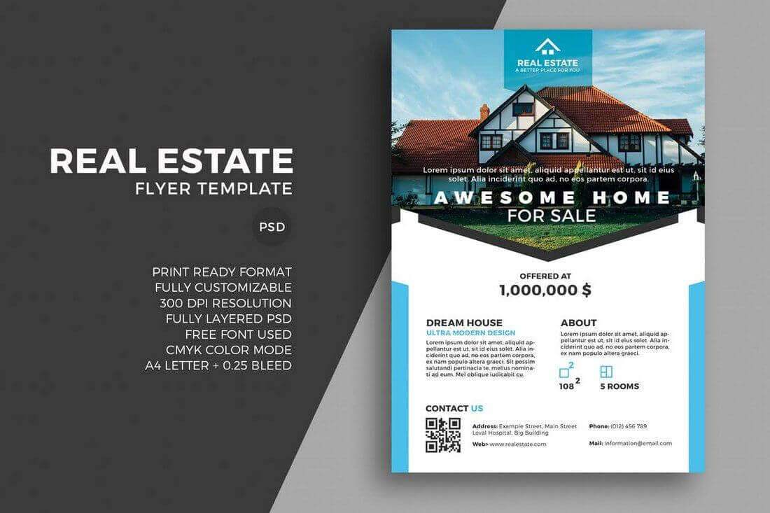30+ Best Real Estate Flyer Templates | Vd // 房地產 | Flyer throughout Real Estate Brochure Templates Psd Free Download
