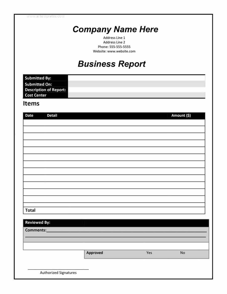 30+ Business Report Templates & Format Examples ᐅ Template Lab in Business Review Report Template