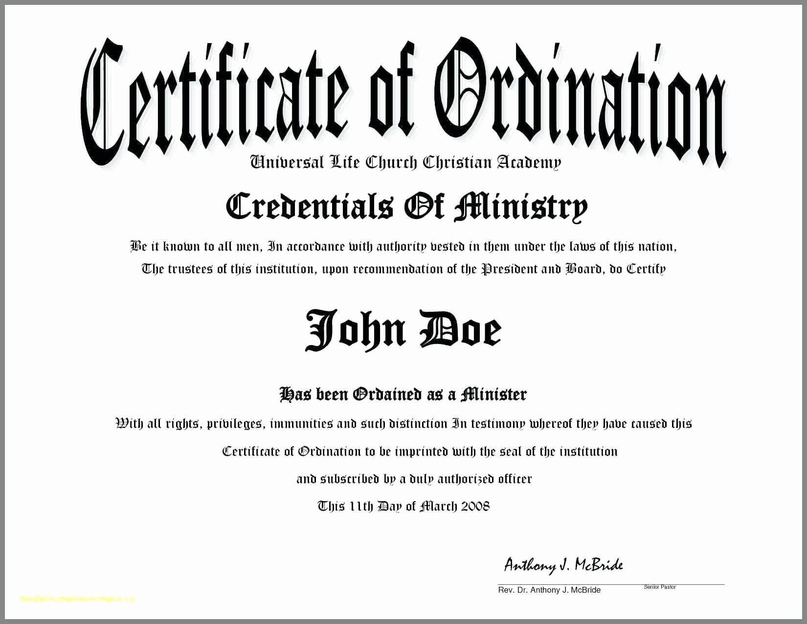 30 Certificate Of License For The Gospel Ministry Template regarding Certificate Of License Template