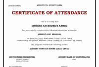 30 Ceu Certificate Of Attendance Template | Pryncepality regarding Conference Participation Certificate Template