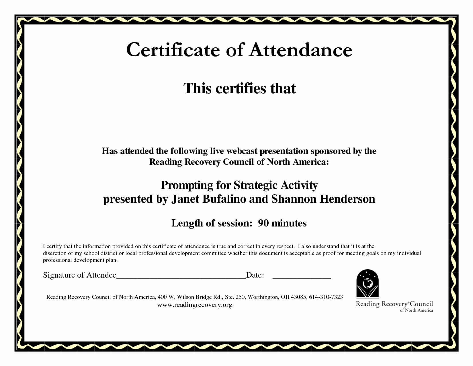 30 Ceu Certificate Of Attendance Template   Pryncepality throughout Conference Certificate Of Attendance Template