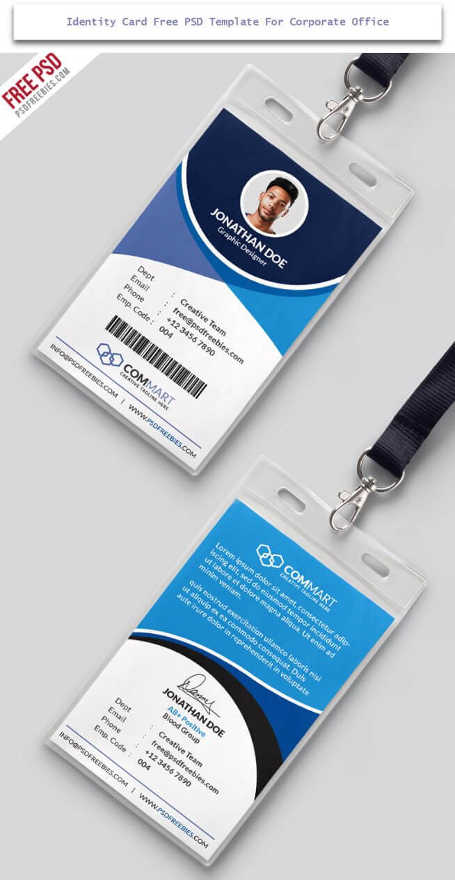 30 Creative Id Card Design Examples With Free Download Within Id Card Design Template Psd Free Download