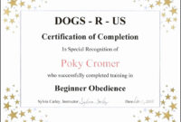 30 Dog Birth Certificate Template Free | Pryncepality with Birth Certificate Template For Microsoft Word