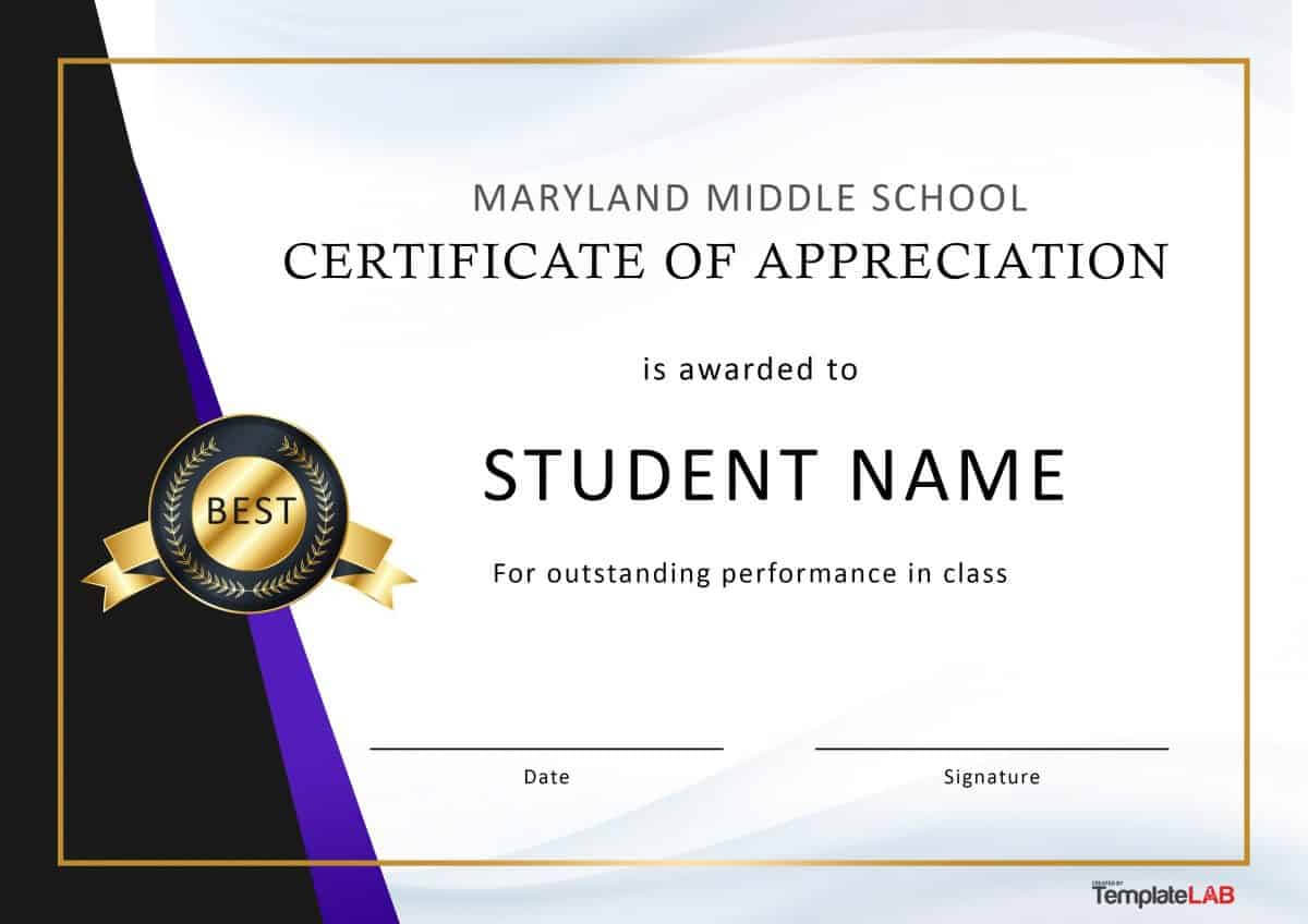 30 Free Certificate Of Appreciation Templates And Letters In Best Performance Certificate Template