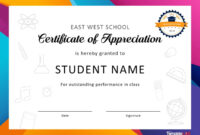 30 Free Certificate Of Appreciation Templates And Letters In School Certificate Templates Free