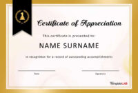 30 Free Certificate Of Appreciation Templates And Letters throughout Template For Recognition Certificate