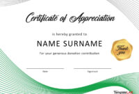30 Free Certificate Of Appreciation Templates And Letters with Certificate Of Appearance Template