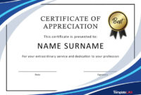 30 Free Certificate Of Appreciation Templates And Letters within Certificate Of Appreciation Template Doc