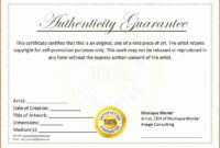 30 Free Certificate Of Authenticity Template | Pryncepality With Certificate Of Authenticity Template