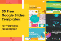 30 Free Google Slides Templates For Your Next Presentation with Powerpoint Slides Design Templates For Free