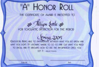 30 Free Honor Roll Certificate | Pryncepality throughout Honor Roll Certificate Template