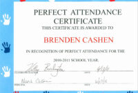 30 Free Perfect Attendance Certificate   Pryncepality inside Perfect Attendance Certificate Template