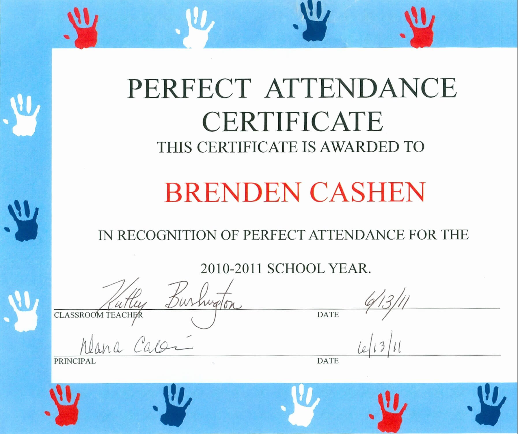 30 Free Perfect Attendance Certificate | Pryncepality inside Perfect Attendance Certificate Template