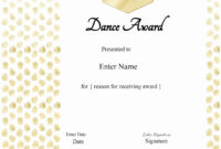 30 Free Printable Dance Certificates | Pryncepality with regard to Dance Certificate Template