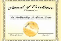 30 Good Samaritan Award Certificates   Pryncepality intended for Certificate Of Achievement Template Word