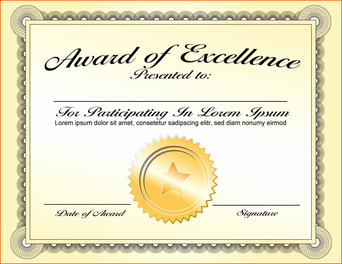 30 Good Samaritan Award Certificates | Pryncepality intended for Certificate Of Achievement Template Word