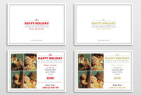 30 Holiday Card Templates For Photographers To Use This Year throughout Free Photoshop Christmas Card Templates For Photographers