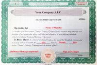 30 Llc Membership Certificate Template   Pryncepality Regarding Llc Membership Certificate Template Word