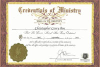 30 Minister License Certificate Template | Pryncepality intended for Ordination Certificate Templates