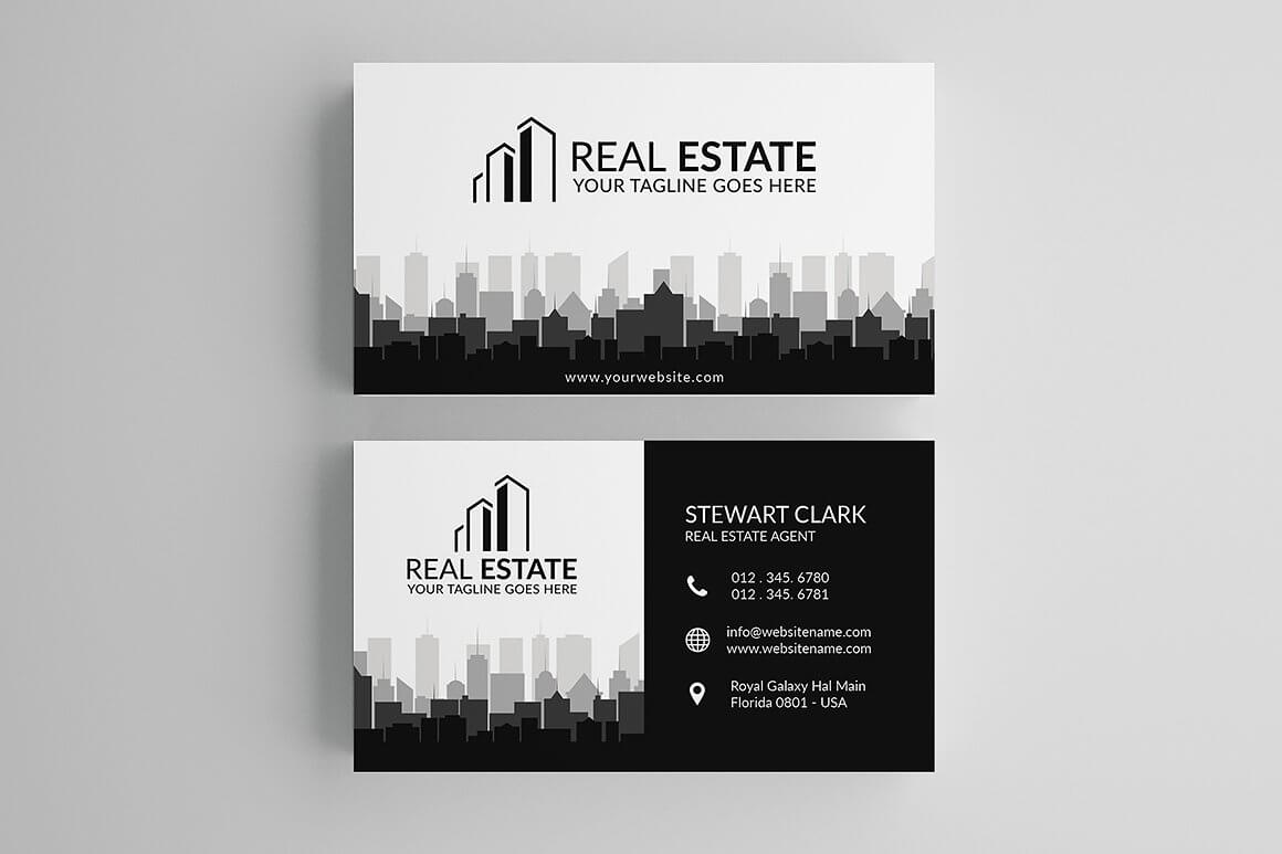 30+ Modern Real Estate Business Cards Psd | Decolore Throughout Real Estate Agent Business Card Template
