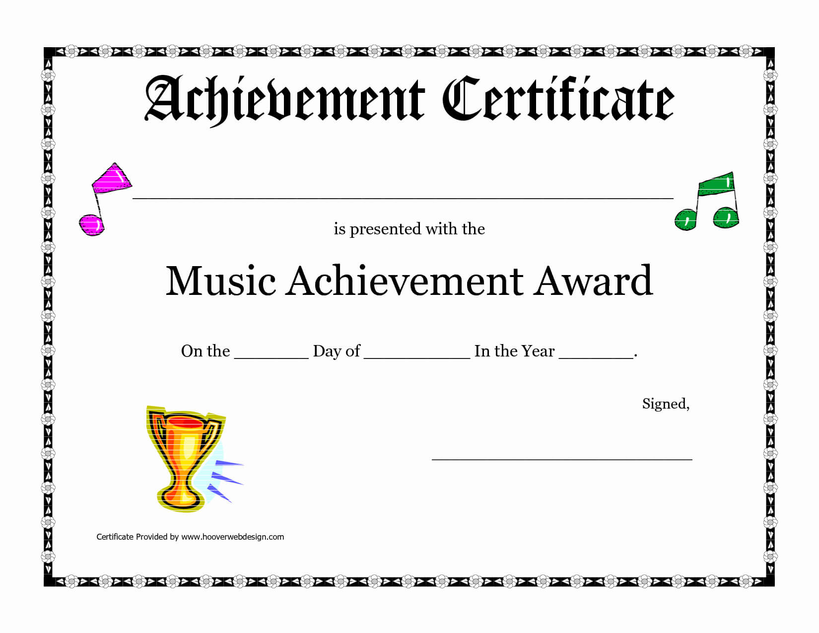 30 Music Awards Certificates Templates | Pryncepality pertaining to Choir Certificate Template