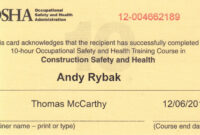 30 Osha 10 Certificate Template   Pryncepality pertaining to Osha 10 Card Template