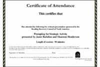 30 Perfect Attendance Certificate Editable | Pryncepality throughout Perfect Attendance Certificate Free Template