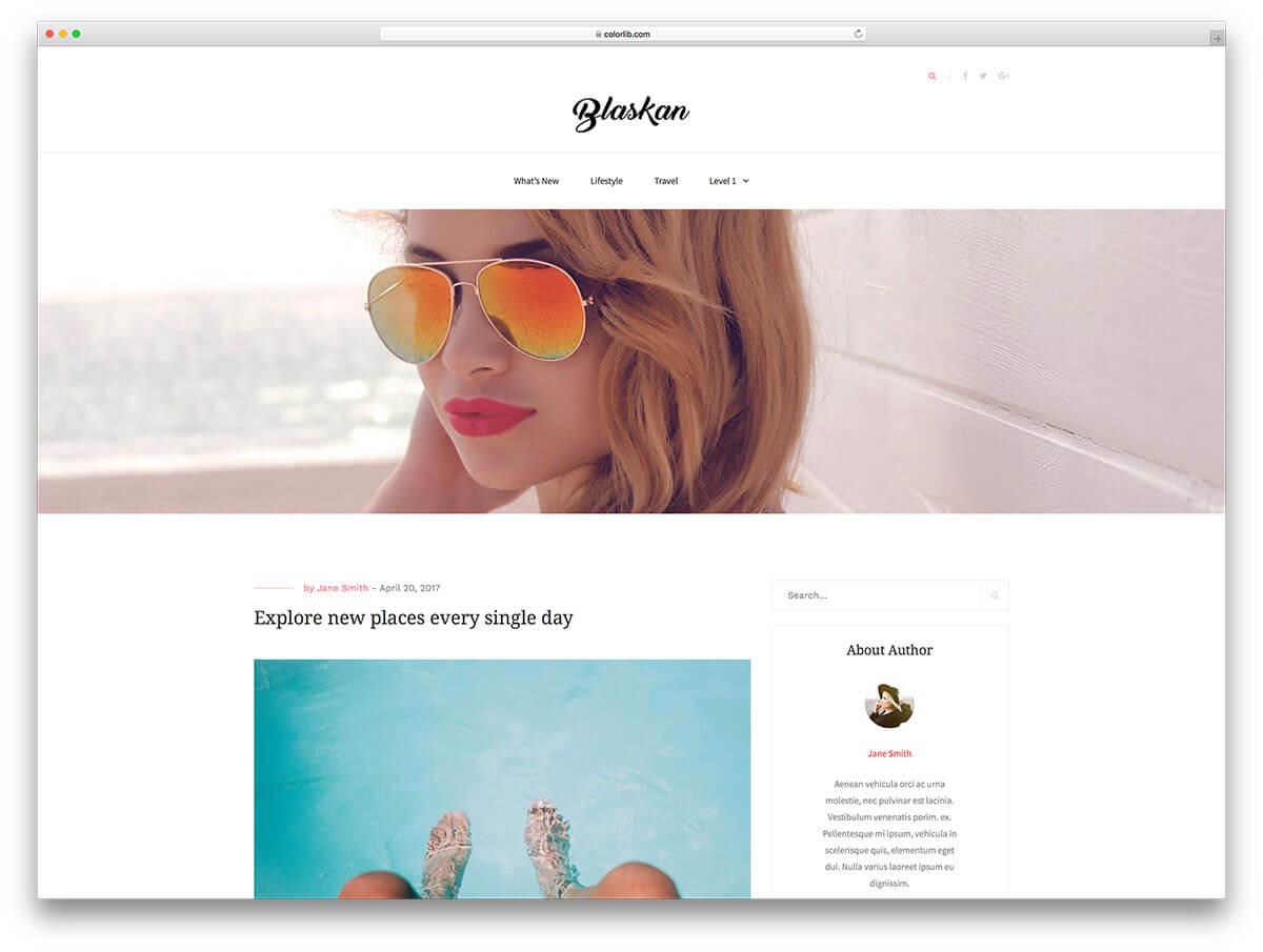 30 Popular Free Wordpress Blog Themes 2019 - Colorlib within Blank Food Web Template