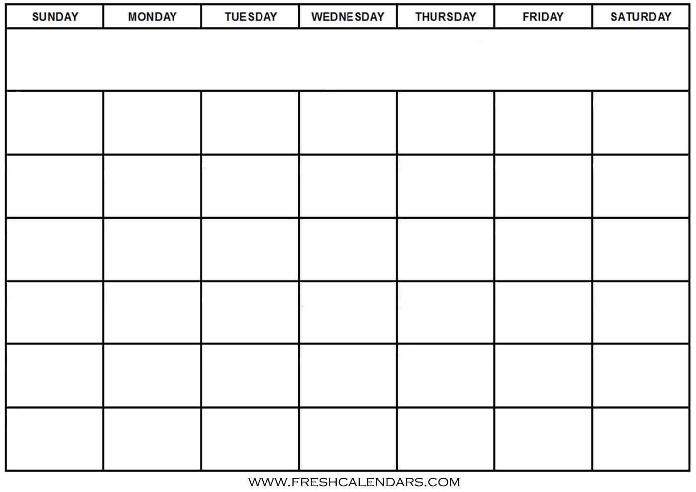 30 Print Free Calendar Template | Andaluzseattle Template within Full Page Blank Calendar Template