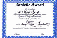 30 Sports Awards Certificate Template | Pryncepality for Athletic Certificate Template