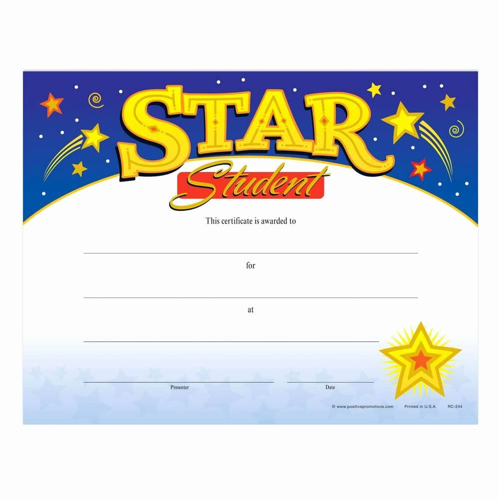 30 Star Of The Week Templates | Pryncepality Regarding Star Of The Week Certificate Template