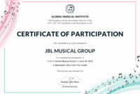 30 Talent Show Participation Certificate | Pryncepality intended for Choir Certificate Template