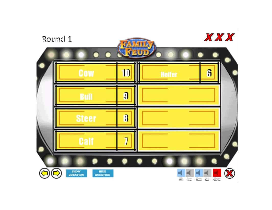 31 Great Family Feud Templates (Powerpoint, Pdf & Word) ᐅ regarding Family Feud Game Template Powerpoint Free