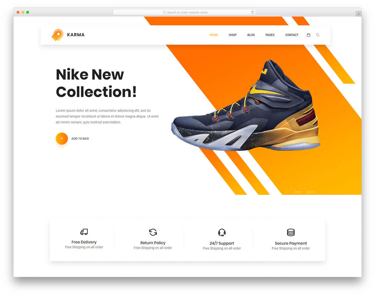 32 Best Free Ecommerce Website Templates In 2019 - Uicookies within Blank Food Web Template