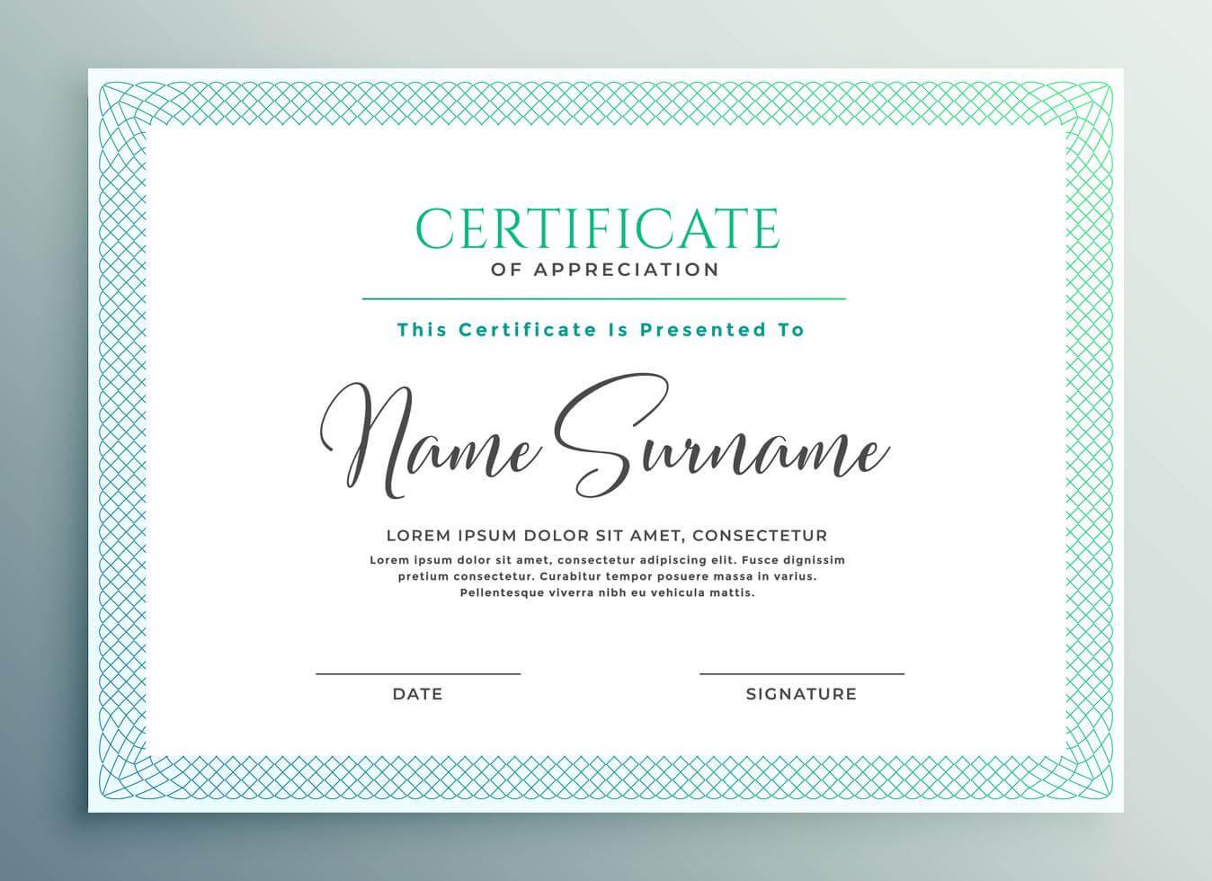 33+ Certificate Of Appreciation Template Download Now!! Inside Certificates Of Appreciation Template