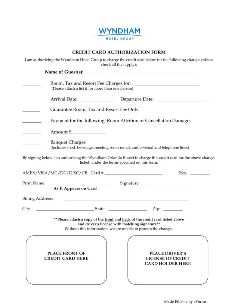 33+ Credit Card Authorization Form Template Download (Pdf, Word) with Authorization To Charge Credit Card Template