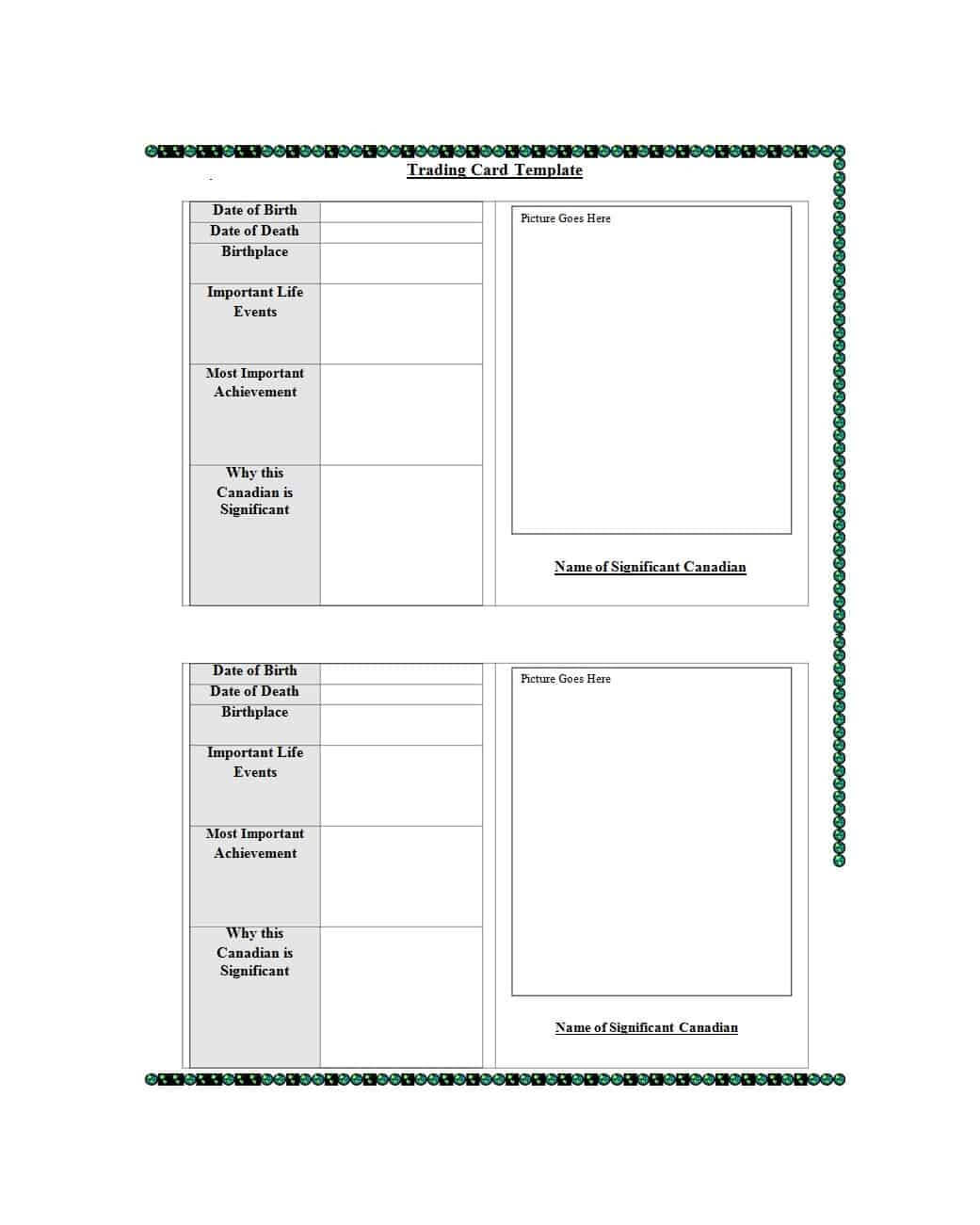 33 Free Trading Card Templates (Baseball, Football, Etc Within Trading Cards Templates Free Download