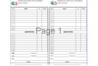 33 Printable Baseball Lineup Templates [Free Download] ᐅ intended for Baseball Lineup Card Template