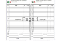 33 Printable Baseball Lineup Templates [Free Download] ᐅ with Free Baseball Lineup Card Template
