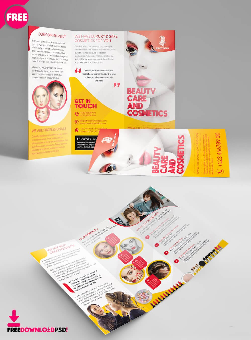 34 Best Free Brochure Mockups & Psd Templates 2019 - Colorlib pertaining to Single Page Brochure Templates Psd