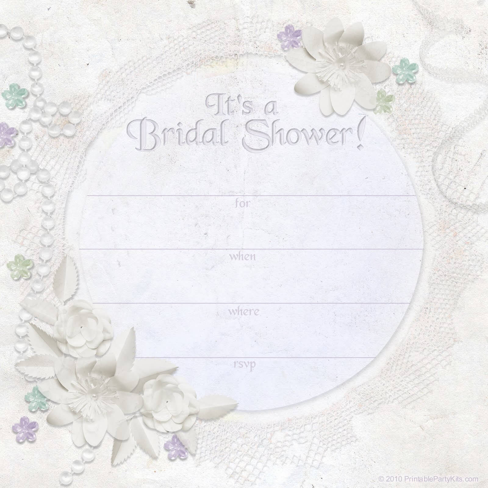 34 Stylish Bridal Shower Invitation Templates With Regard To Blank Bridal Shower Invitations Templates