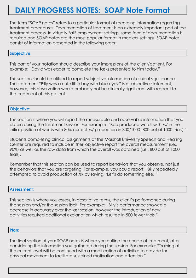 35+ Soap Note Examples (Blank Formats & Writing Tips) throughout Soap Note Template Word
