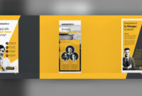 37+ Roll Up Banner Designs For Your Advertising Needs – Psd with regard to Banner Stand Design Templates