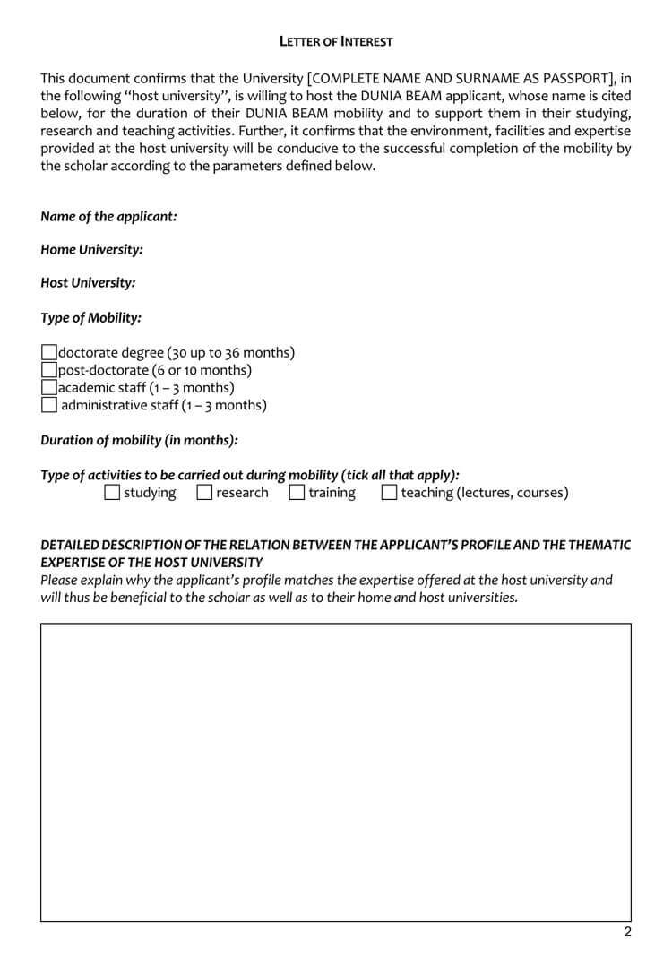 38+ Letter Of Interest Samples & Examples (Writing Guidelines) within Letter Of Interest Template Microsoft Word