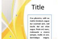 39 Amazing Cover Page Templates (Word + Psd) ᐅ Template Lab with Word Title Page Templates
