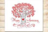 39+ Free Anniversary Card Templates In Word Excel Pdf with Anniversary Card Template Word