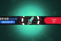 3D Animated .gif Minecraft Server Banner with Minecraft Server Banner Template