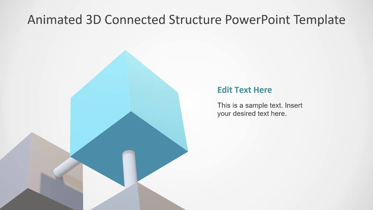 3D0056 Animated 3D Connected Structure Powerpoint Template inside Rutgers Powerpoint Template
