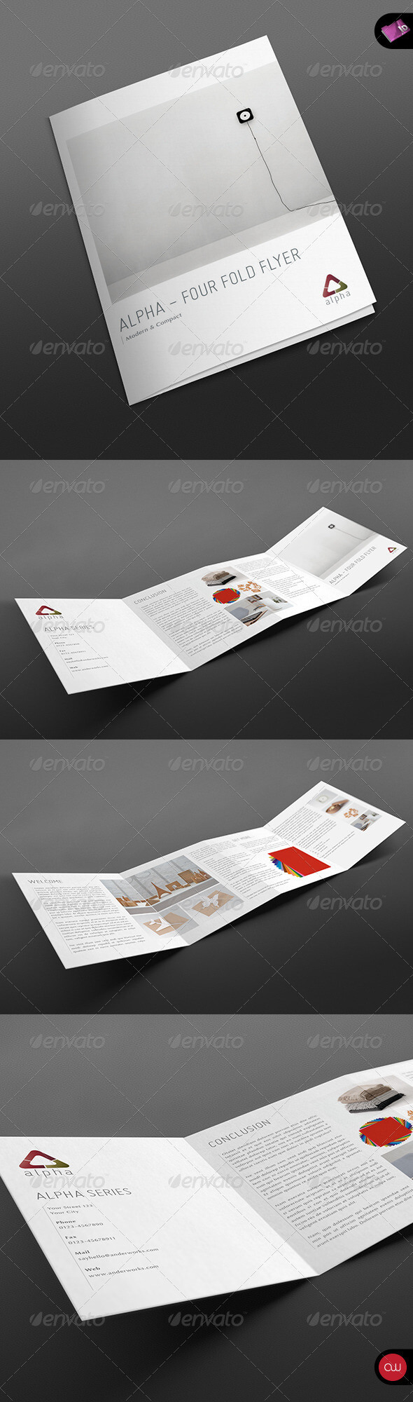 4-Fold Brochure Template - Vol.2 #graphicriver Modern And within 4 Fold Brochure Template